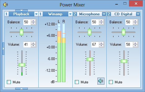 Volume control replacement - Another view of the main window of Power Mixer